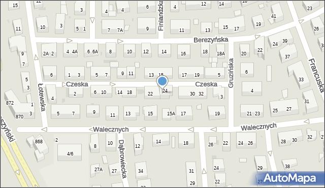 Warszawa, Czeska, 26, mapa Warszawy
