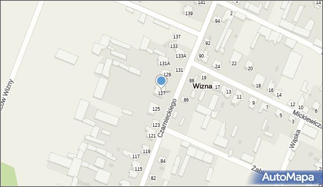 Wizna, Czarnieckiego Stefana, hetm., 127, mapa Wizna