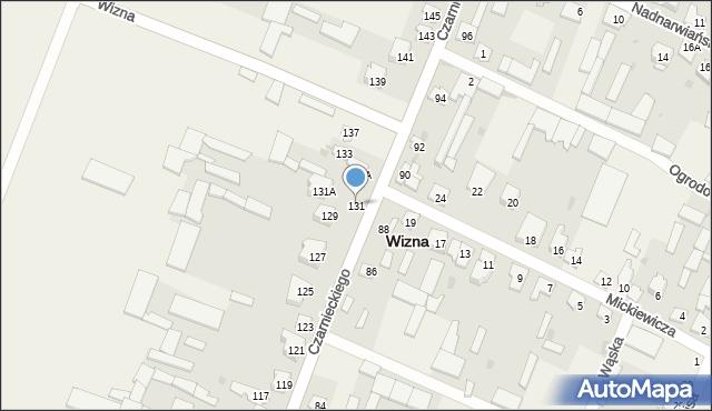 Wizna, Czarnieckiego Stefana, hetm., 131, mapa Wizna