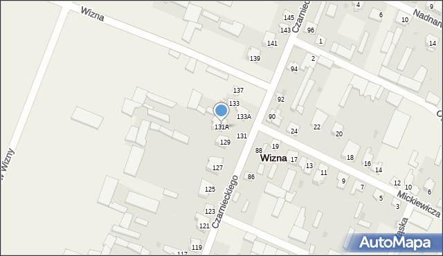 Wizna, Czarnieckiego Stefana, hetm., 131A, mapa Wizna