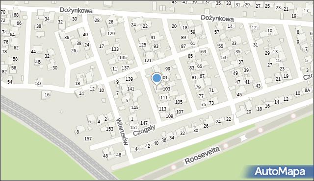 Zabrze, Czogały Emanuela, 115, mapa Zabrza