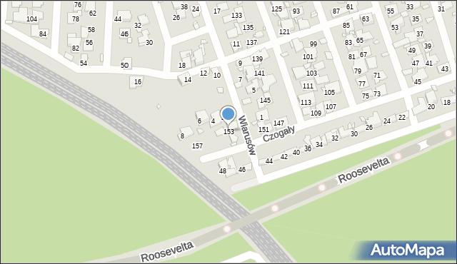 Zabrze, Czogały Emanuela, 153, mapa Zabrza