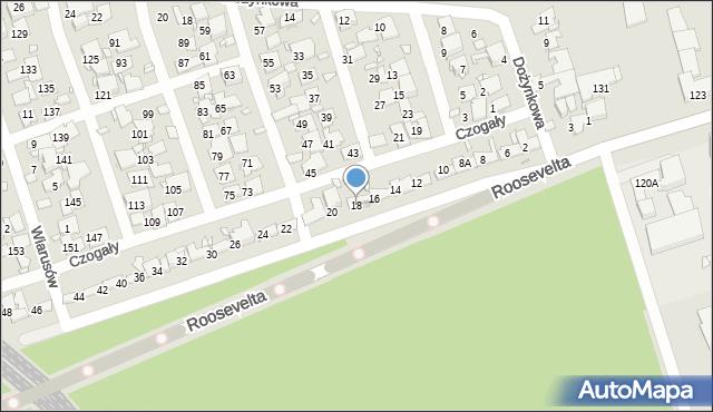 Zabrze, Czogały Emanuela, 18, mapa Zabrza