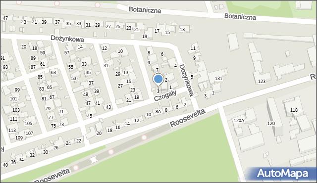 Zabrze, Czogały Emanuela, 3, mapa Zabrza
