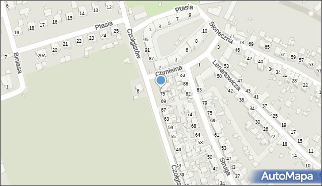 Zabrze, Czołgistów, 77, mapa Zabrza