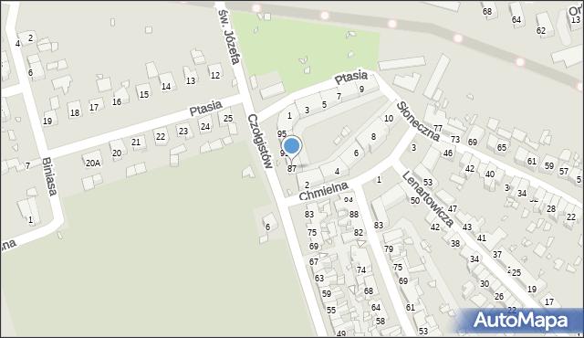 Zabrze, Czołgistów, 87, mapa Zabrza
