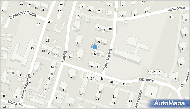 Zabrze, Czereśniowa, 4A, mapa Zabrza