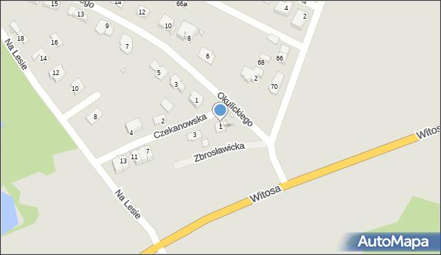 Zabrze, Czekanowska, 1, mapa Zabrza