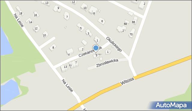 Zabrze, Czekanowska, 3, mapa Zabrza