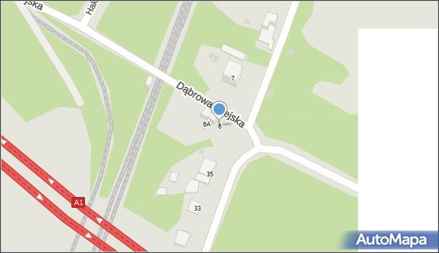 Bytom, Dąbrowa Miejska, 6, mapa Bytomia