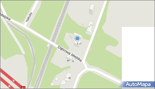 Bytom, Dąbrowa Miejska, 7, mapa Bytomia