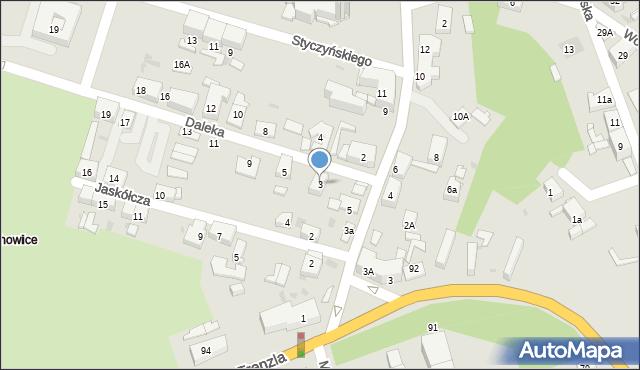 Bytom, Daleka, 3, mapa Bytomia
