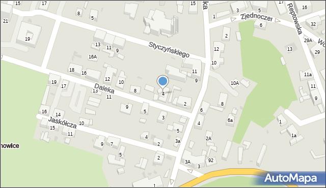 Bytom, Daleka, 4, mapa Bytomia