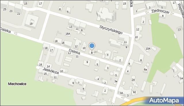 Bytom, Daleka, 8, mapa Bytomia