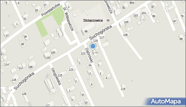 Bytom, Dąbrówki, 1, mapa Bytomia