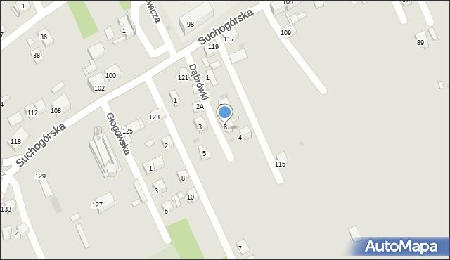 Bytom, Dąbrówki, 3a, mapa Bytomia