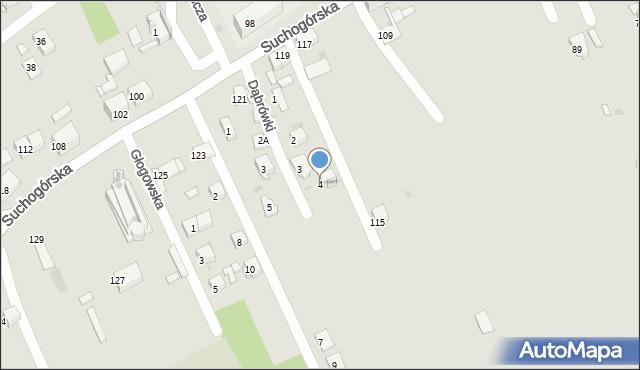 Bytom, Dąbrówki, 4, mapa Bytomia