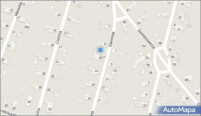 Bytom, Damrota Konstantego, 10, mapa Bytomia