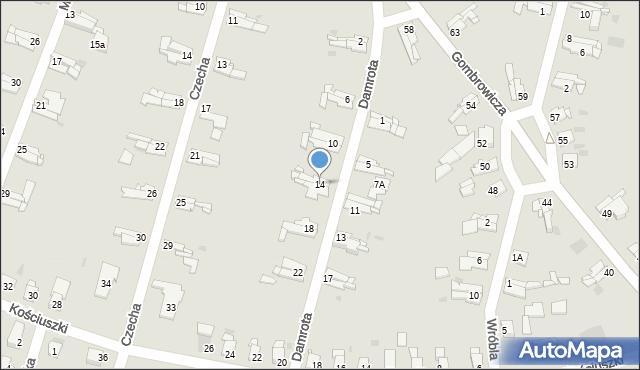 Bytom, Damrota Konstantego, 14, mapa Bytomia