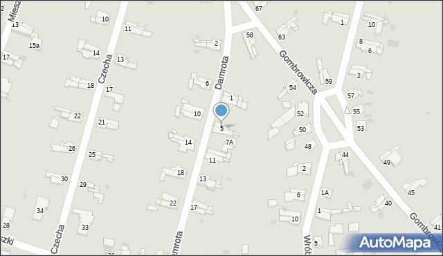 Bytom, Damrota Konstantego, 5, mapa Bytomia