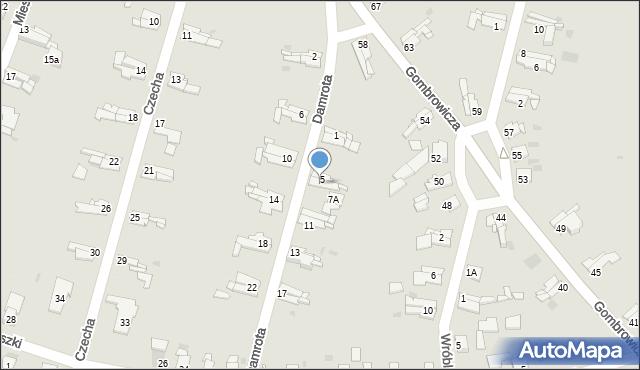 Bytom, Damrota Konstantego, 7, mapa Bytomia
