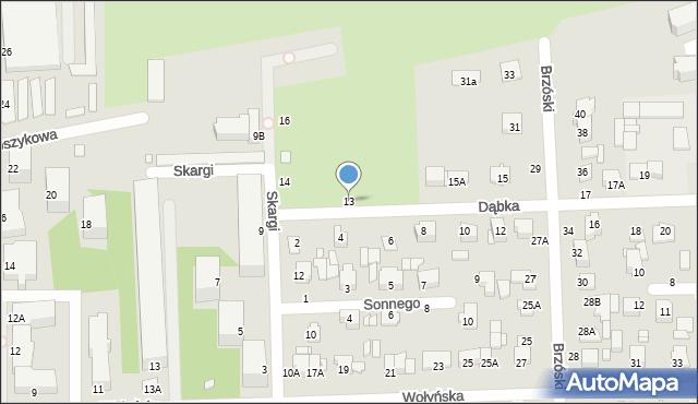 Chełm, Dąbka Stanisława, płk., 13, mapa Chełma