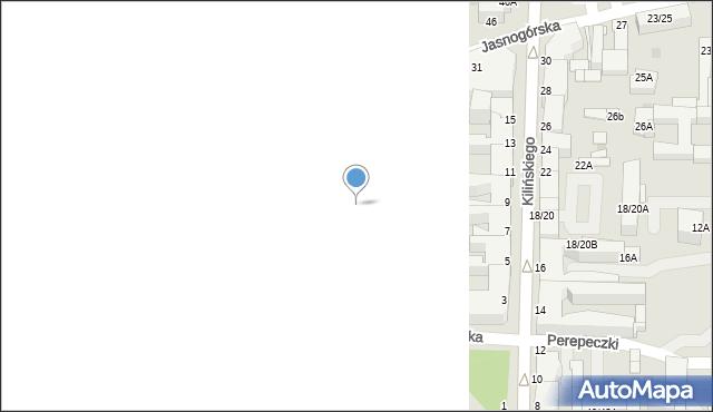 Częstochowa, Dąbrowskiego, 13, mapa Częstochowy