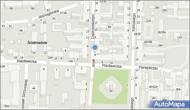 Częstochowa, Dąbrowskiego, 4, mapa Częstochowy