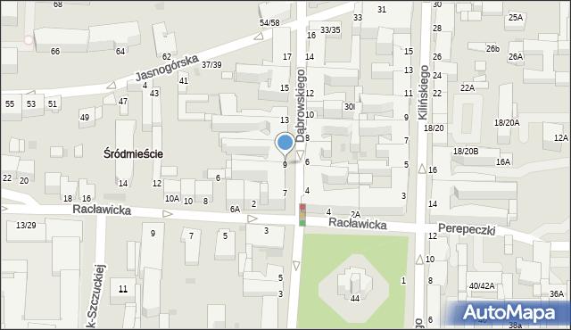 Częstochowa, Dąbrowskiego, 9, mapa Częstochowy