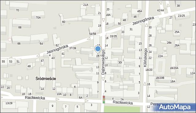 Częstochowa, Dąbrowskiego Henryka, gen., 15, mapa Częstochowy