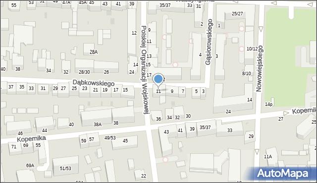 Częstochowa, Dąbkowskiego, 11, mapa Częstochowy