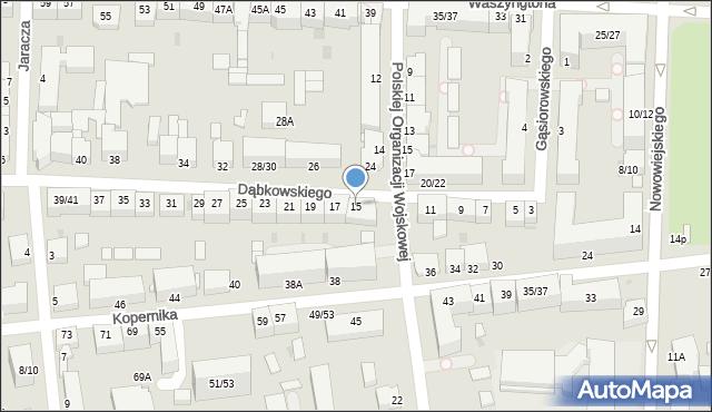 Częstochowa, Dąbkowskiego, 15, mapa Częstochowy