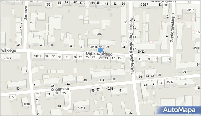 Częstochowa, Dąbkowskiego, 21, mapa Częstochowy
