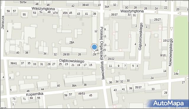 Częstochowa, Dąbkowskiego, 24, mapa Częstochowy