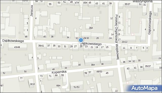 Częstochowa, Dąbkowskiego, 25, mapa Częstochowy