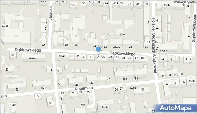 Częstochowa, Dąbkowskiego, 29, mapa Częstochowy