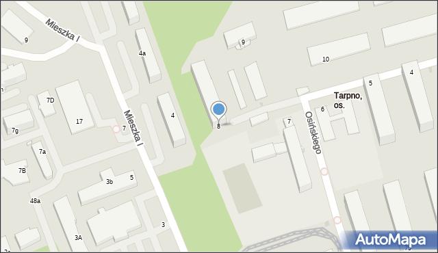 Grudziądz, Dąbrówki, 8, mapa Grudziądza