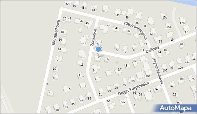 Grudziądz, Daliowa, 2, mapa Grudziądza