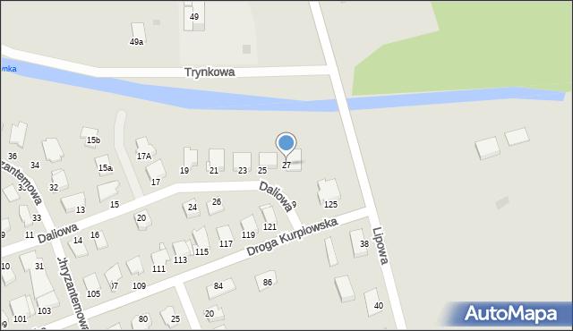 Grudziądz, Daliowa, 27, mapa Grudziądza