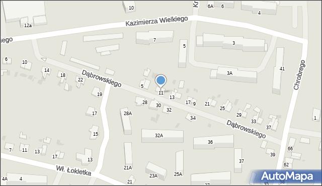 Kętrzyn, Dąbrowskiego Jarosława, gen., 11, mapa Kętrzyn