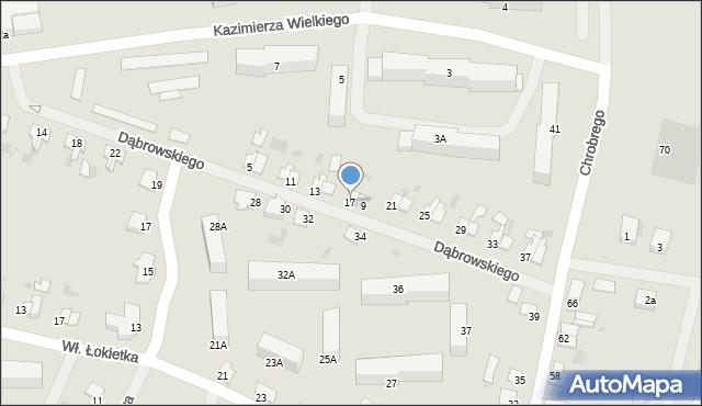 Kętrzyn, Dąbrowskiego Jarosława, gen., 17, mapa Kętrzyn