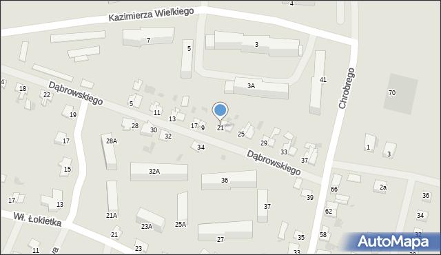 Kętrzyn, Dąbrowskiego Jarosława, gen., 21, mapa Kętrzyn