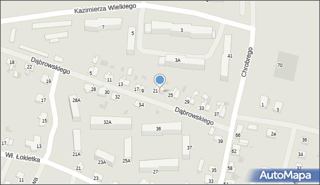 Kętrzyn, Dąbrowskiego Jarosława, gen., 23, mapa Kętrzyn