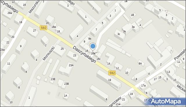 Kętrzyn, Daszyńskiego Ignacego, 16a, mapa Kętrzyn
