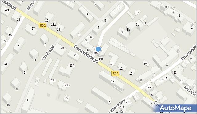 Kętrzyn, Daszyńskiego Ignacego, 16b, mapa Kętrzyn