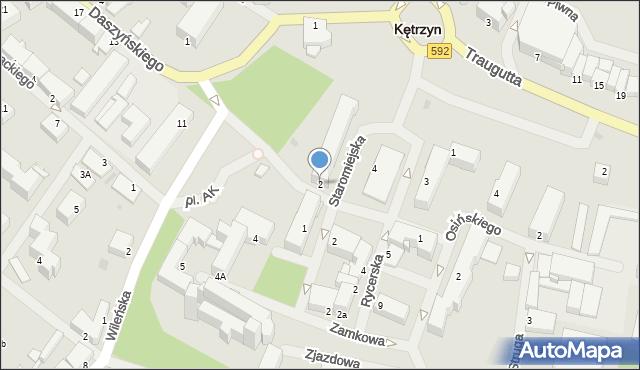 Kętrzyn, Daszyńskiego Ignacego, 2, mapa Kętrzyn