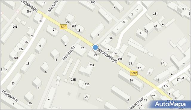 Kętrzyn, Daszyńskiego Ignacego, 23, mapa Kętrzyn