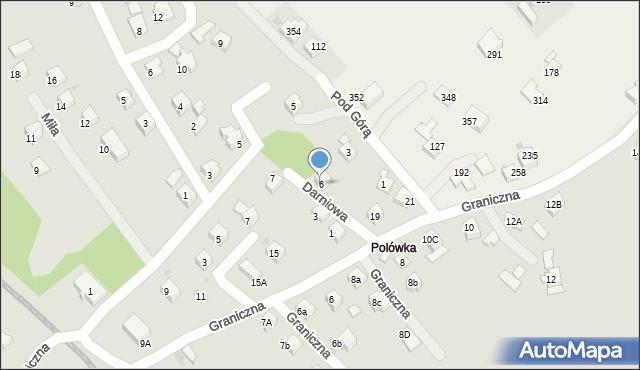 Limanowa, Darniowa, 6, mapa Limanowa