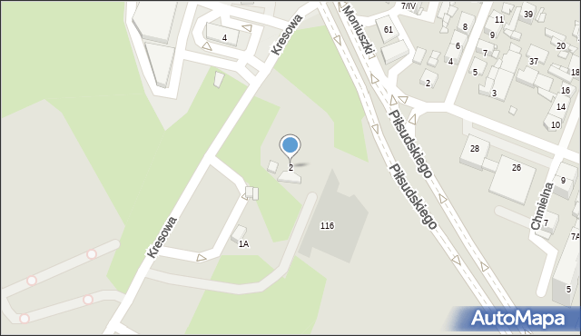 Sosnowiec, Daleka, 2, mapa Sosnowca