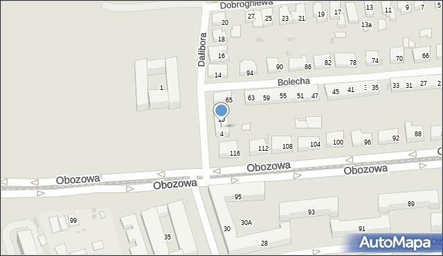 Warszawa, Dalibora, 6, mapa Warszawy